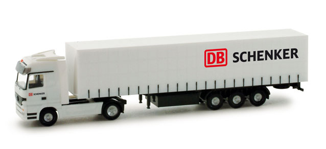 Herpa 065887 Mercedes Benz Actros Lh Curtain Canvas Semitrailer Quot Db